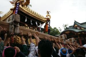 Haneda festival under o-mikoshi