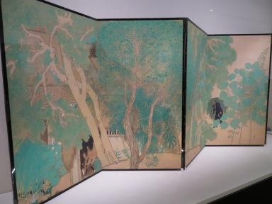 """Sakuemon's House"" 1918 by Yokoyama Taikan. Photo taken at Yokoyama Taikan - The Elite of the Tokyo Art World at the Yamatane Museum of Art."