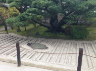 A simple Zen Garden found in Ginkakuji, Kyoto